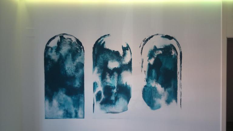 portfolio 12/31  - Mural, pintura al agua, color según cliente