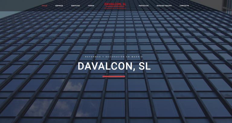 portfolio 11/13  - Página web Construcciones Davalcon www.davalcon.es