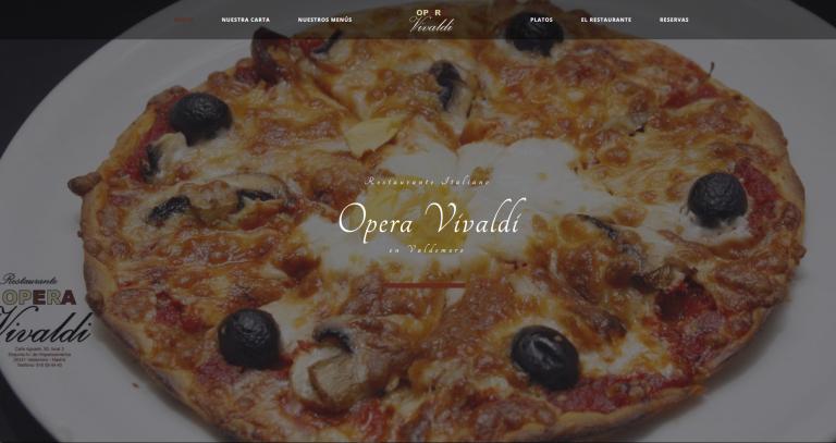 portfolio 12/13  - Página web restaurante Opera Vivaldi www.operavivaldi.es