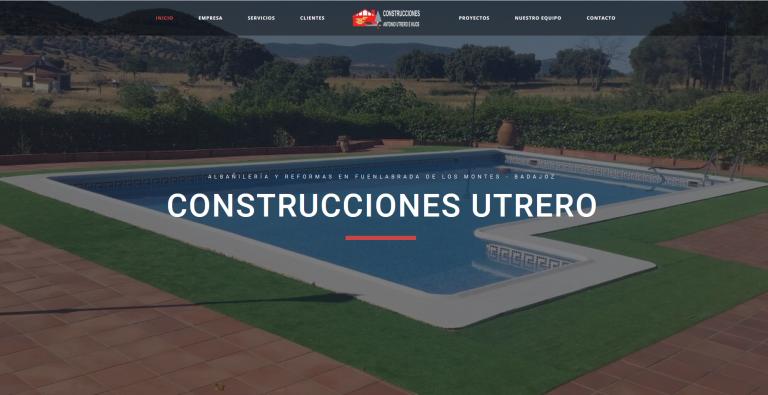 portfolio 13/13  - Página web Construcciones Utrero www.construccionesutrero.es