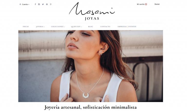 portfolio 9/13  - Página web Tienda Online de Joyas Masami www.masami.es