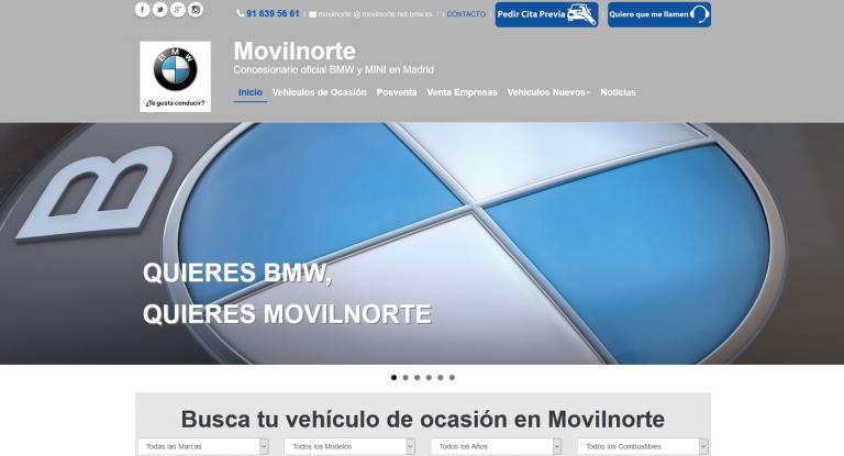 portfolio 6/13  - Página web Movilnorte BMW y MINI www.movilnorte.es