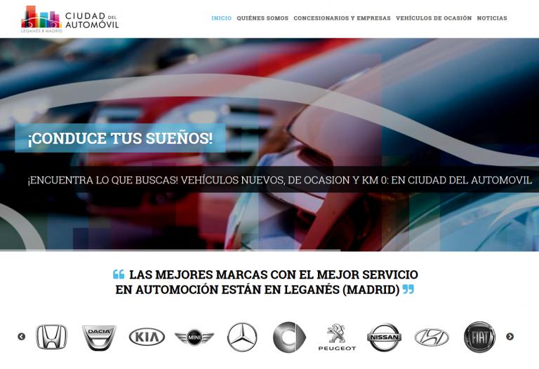 portfolio 2/13  - Página web Ciudad del Automóvil Leganés www.ciudaddelautomovil.es