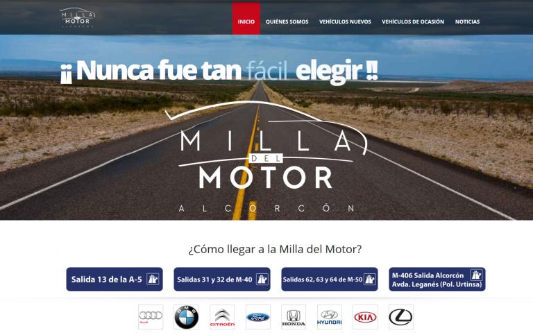 portfolio 4/13  - Página web La Milla del Motor www.milladelmotor.com