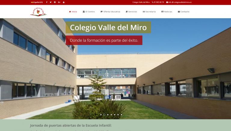 portfolio 8/13  - Página web Colegio Bilingüe Valle del Miro www.colegiovalledelmiro.es