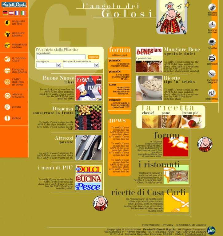 portfolio 49/91  - web for Olio Carli s.a.