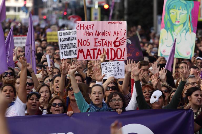 portfolio 13/40  - SOCIAL Manifestación 7N contra la violencia machista. Madrid. 07/11/2015