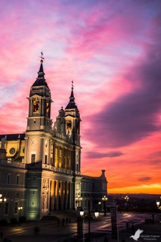 portfolio 13/15  - Catedral de la Almudena en un atardecer de película