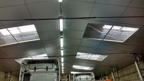 portfolio 21/26  - Instalación de Traga Luces en Naves Industriales de IVECO