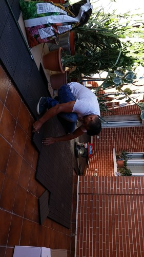 portfolio 224/287  - Colocación de un suelo de una terraza de Banbú