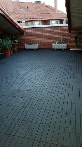portfolio 227/287  - Colocación de un suelo de una terraza de Banbú