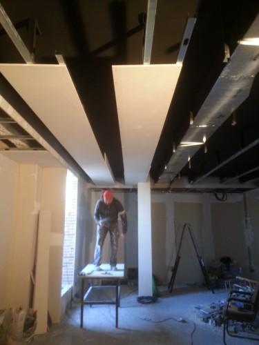 portfolio 114/287  - reforma del techo del pladur  a  doble altura