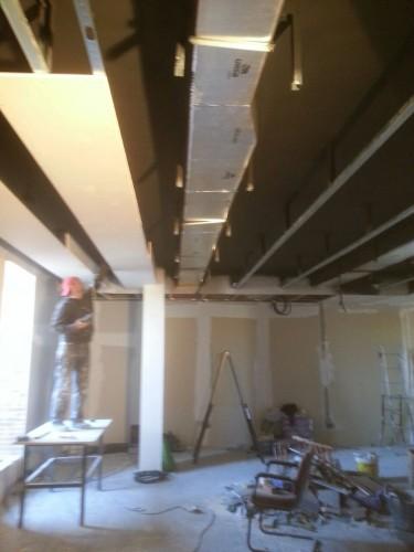 portfolio 115/287  - reforma del techo del pladur  a  doble altura