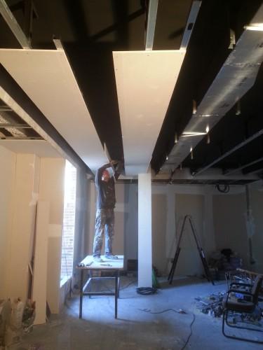 portfolio 116/287  - reforma del techo del pladur  a  doble altura