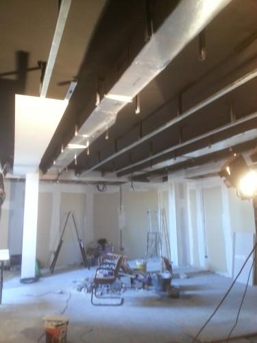 portfolio 120/287  - reforma del techo del pladur  a  doble altura