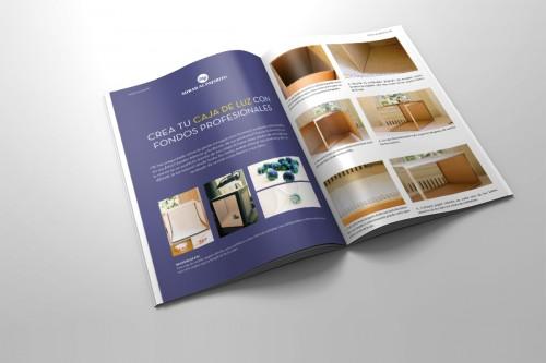 portfolio 9/24  - Concepto de la revista, decidir un sector al que dirigirla, dotarla de contenido, contexto, maquetación e impresión.
