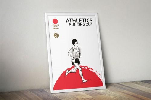 portfolio 2/24  - Juegos conmemorativos Olimpiadas Tokyo 1964 Atletismo
