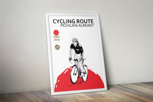 portfolio 3/24  - Juegos conmemorativos Olimpiadas Tokyo 1964 Ciclismo