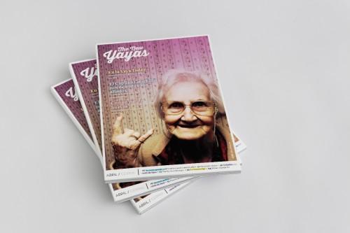 portfolio 4/24  - The New Yayas se trata de una revista enfocada a trabajos de los que hacían las abuelas antiguamente, mas conocido por hazlo tu mismo o DYI