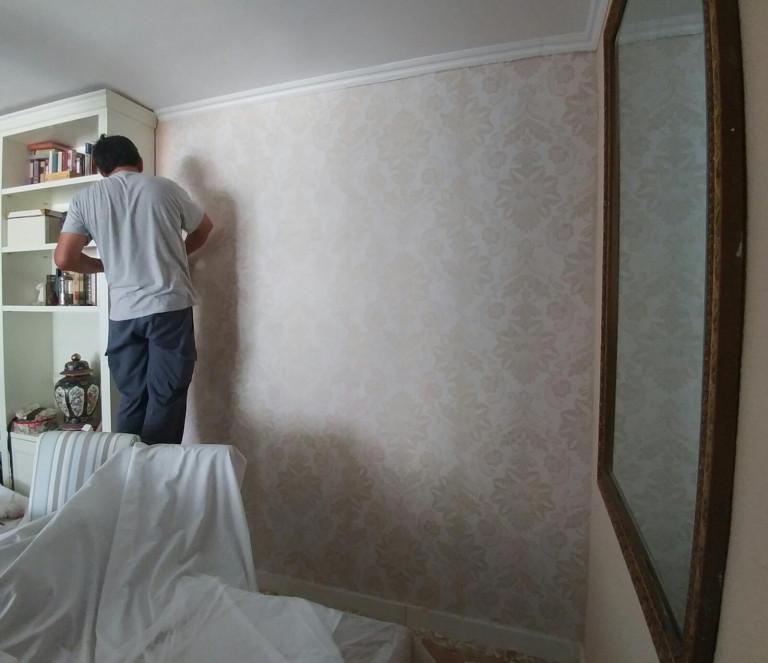 portfolio 27/28  - empapelado de una pared