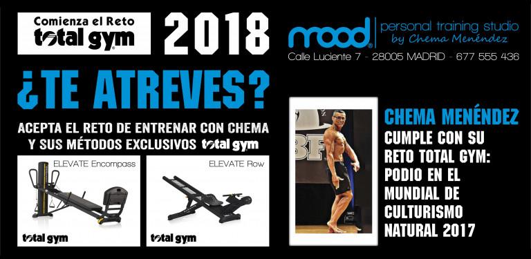 portfolio 9/9  - Chema Menéndez trabaja con los método exclusivos Total Gym, sistema que al no tener impacto  elimina cualquier  tipo de riesgo de lesión de articulaciones, tendones o ligamentos.
