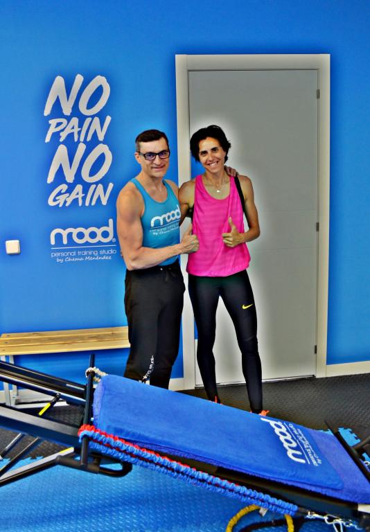 portfolio 2/9  - Chema Menéndez, entrenando a Nuria Fernández, campeona de Europa de atletismo que ha vuelto a correr, gracias a su método, después de un tiempo inactiva por una lesión.