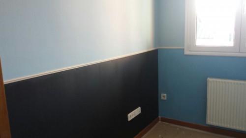 portfolio 2/7  - pintura de habitación con zona pizarra