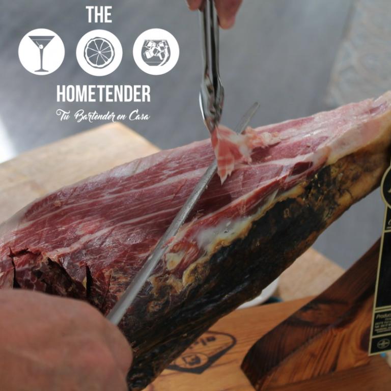 portfolio 2/10  - Servicio de cortador de jamón a cuchillo.