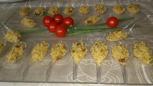 portfolio 4/22  - cucharitas de cuscús con frutos secos al aroma de menta