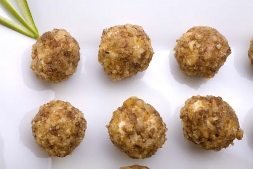 portfolio 6/7  - Minaturas de gouda y nuez caramelizada
