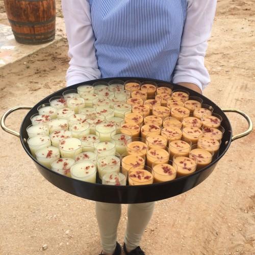 portfolio 13/18  - Chupitos de salmorejo y crema de melón