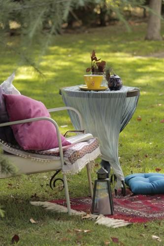 portfolio 64/143  - Decoración en jardín para un rincón de descanso.