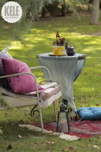 portfolio 65/143  - Decoración en jardín para un rincón de descanso.