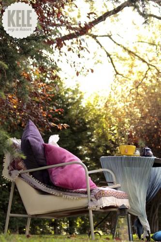 portfolio 67/143  - Decoración en jardín para un rincón de descanso.