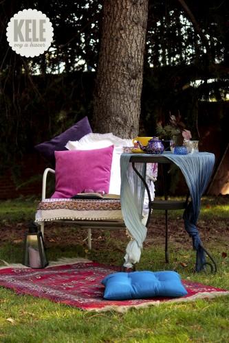 portfolio 70/143  - Decoración en jardín para un rincón de descanso.