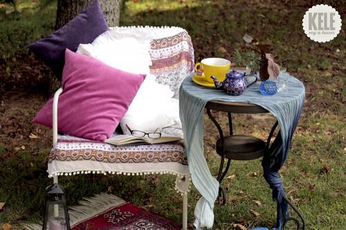 portfolio 71/143  - Decoración en jardín para un rincón de descanso.