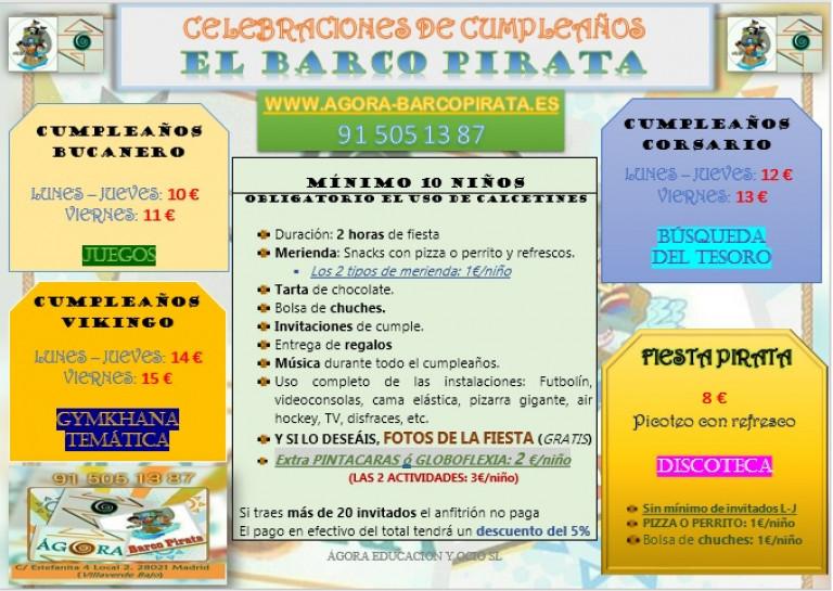 portfolio 5/17  - Cumpleaños en El Barco Pirata de Villaverde - L-V