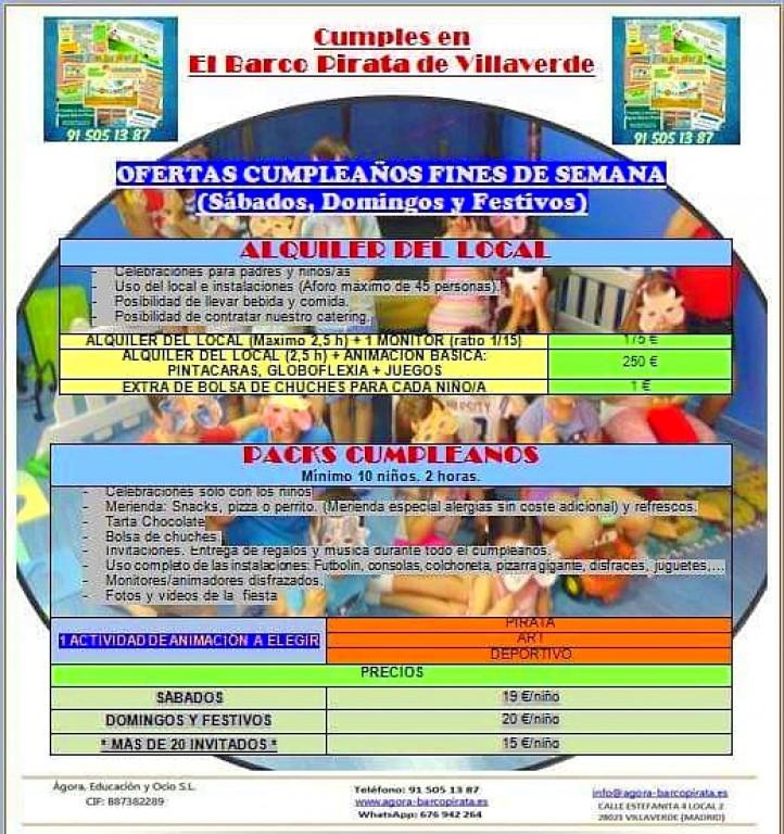 portfolio 3/17  - Cumpleaños y Animaciones - Fines de semana