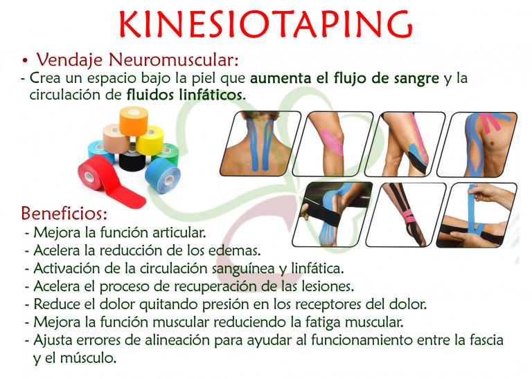 portfolio 3/3  - Vendaje Neurmuscular. Complemento del masaje terapéutico.